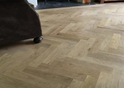 Oak parquet flooring in Nottinghamshire