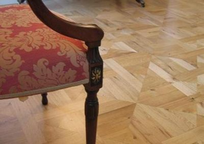 Solid Oak parquet panel