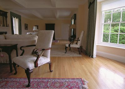 20mm thick solid oak strip flooring in a drawing room in Nottinghamshire