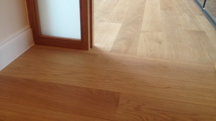 Oak engineered flooring finished with an Osmo matt hardwax oil