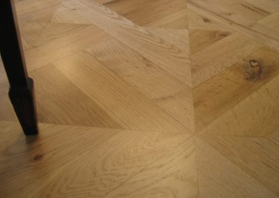 Oak parquet wood floor panels in Halam
