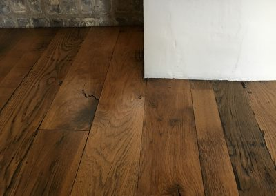 Reclaimed oak random width wood flooring in Nottinghamshire